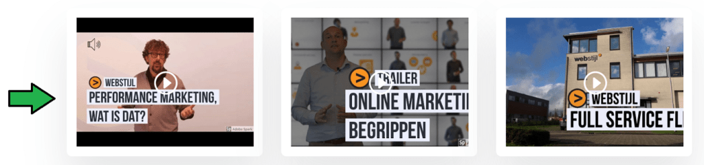 webstijl video's in content verwerkt