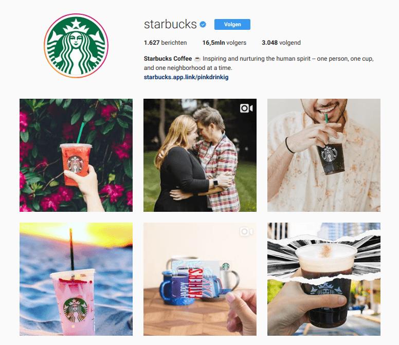 Instagram feed van starbucks