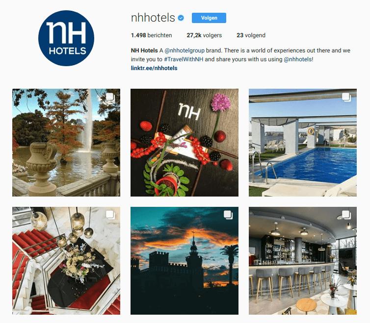 instagramfeed van NH hotels