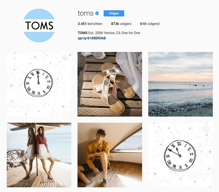 instagramfeed van Toms