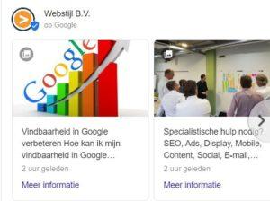 Wat zijn 'Google Posts' en hoe voeg je deze toe in 'Google Mijn Bedrijf'?