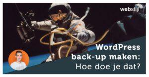 WordPress back-up maken: Hoe doe je dat?