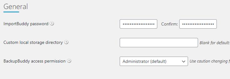 wachtwoord aanmaken voor ImportBuddy